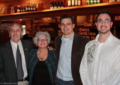 2009-03-24 Michel Flamand, Suzanne Therrien, Fabrice Durou et Sébastien Villeneuve