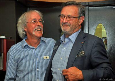 2012-07-09 Notre président Michel Flamand accompagné de Jérôme Quiot