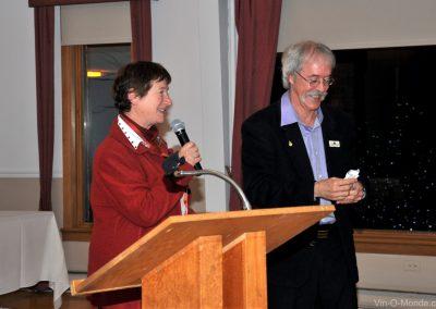 2013-11-08 Lucette Bielle et notre président, Michel Flamand
