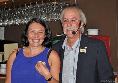 2015-08-26 Émilie Dombey et notre président, Michel Flamand