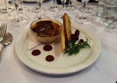 2020-02-05 Crème brûlée au foie gras beurre de camerise et son pain aux épices