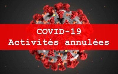 COVID-19 – Annulation des activités de fin de saison
