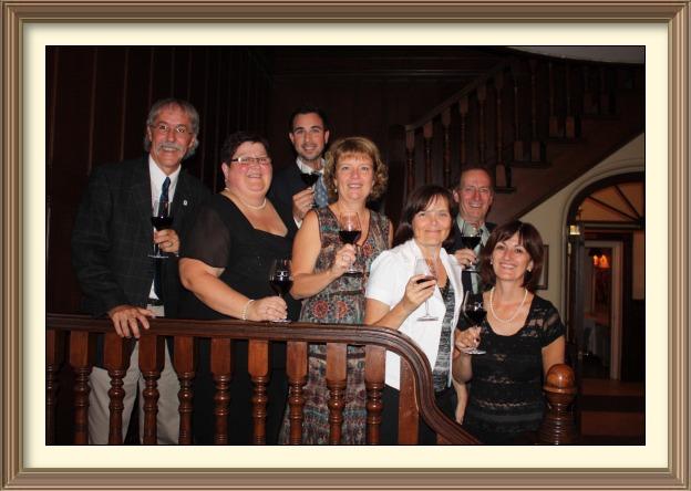 Les sept membres fondateurs de Vin-O-Monde
